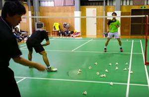 元全日本社会人チャンプの前衛プッシュ練習