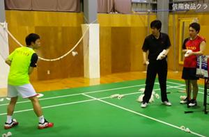 韓国式、レシーブ時の手首強化トレーニング